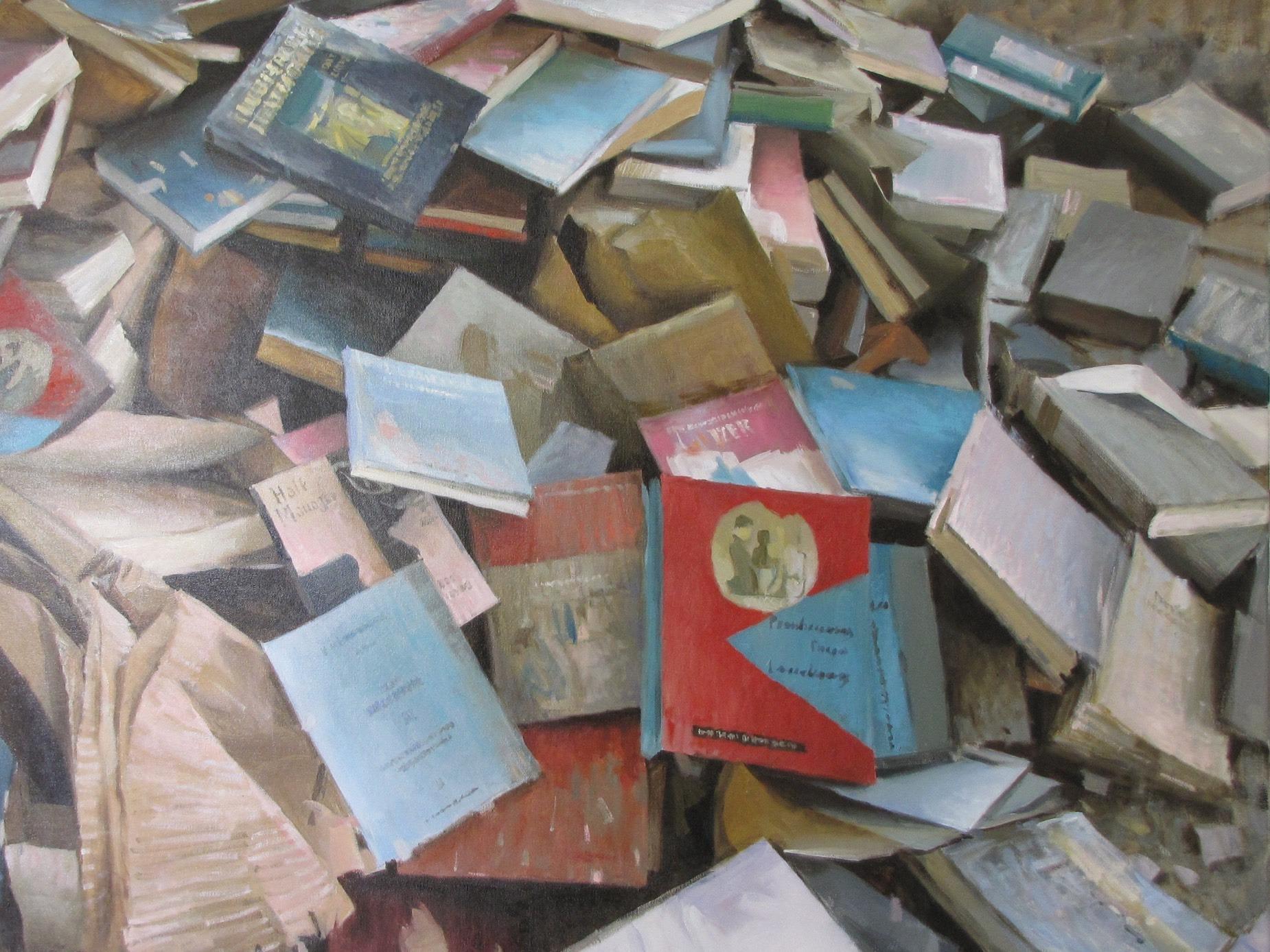 Book Paintings: i dipinti di libri di Andrea Mancini