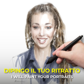I will paint your portrait in digital