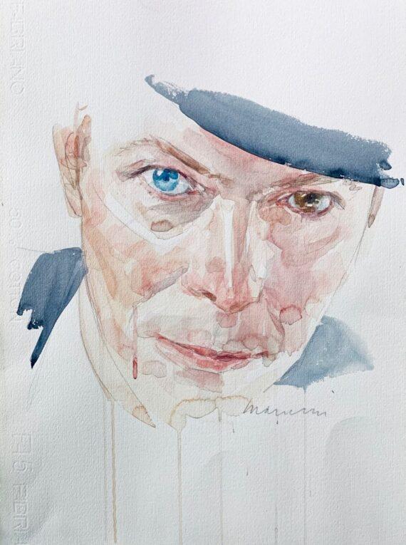 David Bowie watercolor