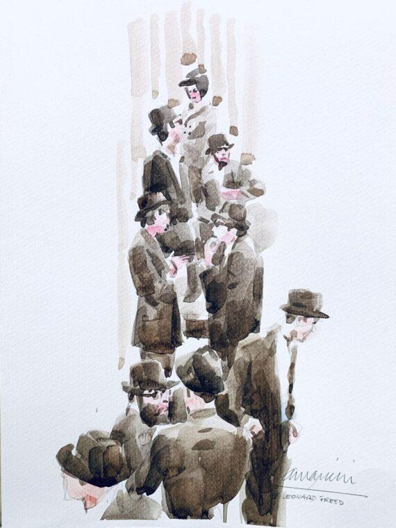 Leonard-Freed-Tribute-2019-watercolor-50x35-cm