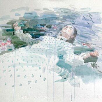 Ophelia, 2013, watercolor, 35x50 cm